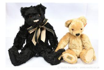 Merrythought pair of Alpha Farnell replica teddy bears: