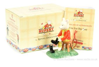 Royal Doulton The Rupert Bear Collection Out for the Day figurine,