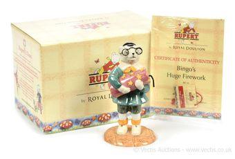 Royal Doulton The Rupert Bear Collection Bingo's Huge Firework