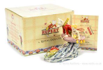 Royal Doulton The Rupert Bear Collection Rupert Rides Home figurine,