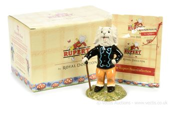 Royal Doulton The Rupert Bear Collection Pong Ping Leading the