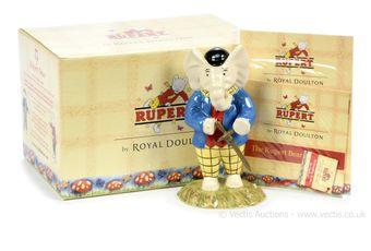 Royal Doulton The Rupert Bear Collection Edward Trunk Pretending
