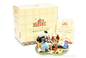 Royal Doulton The Rupert Bear Collection Rupert's Toy Railway