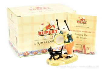 Royal Doulton The Rupert Bear Collection Banging On His Drum