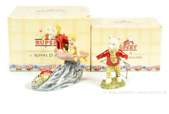 Royal Doulton The Rupert Bear Collection pair: