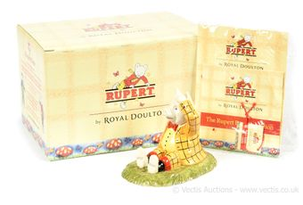 Royal Doulton The Rupert Bear Collection Podgy Lands With A Bump