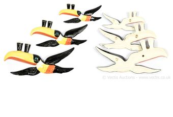 Carlton Ware Guinness Flying Toucans, set of three
