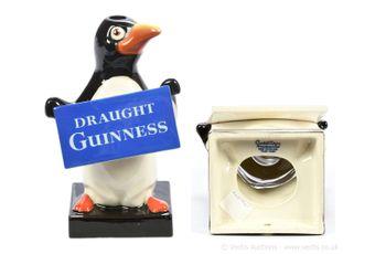 Carlton Ware Guinness Penguin lamp base, Excellent.