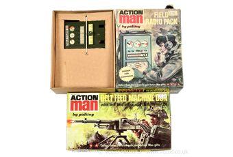 Palitoy Action Man vintage Belt Feed Machine Gun