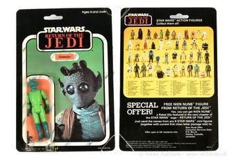 "Palitoy Star Wars Return of the Jedi vintage Greedo 3 3/4"" figure,"