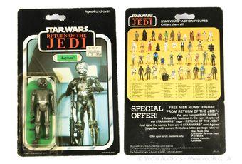"Palitoy Star Wars Return of the Jedi vintage Zuckuss 3 3/4"" figure,"