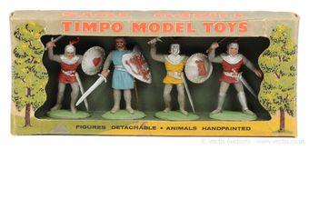 Timpo Solids - Medieval Knights Range, circa, 1960