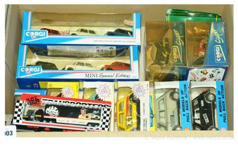 Corgi and similar a boxed group of diecast vehicles which comprise