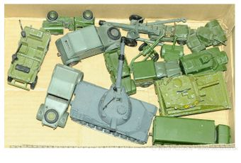 Dinky Toys a unboxed group of Military diecast models which comprise