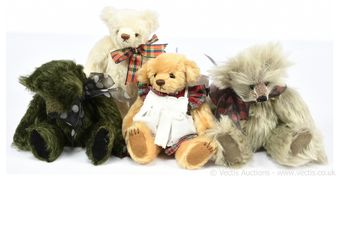 Artist designed teddy bears x four: