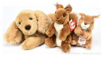 Hermann Teddy Original three plush animals: (1) Spaniel