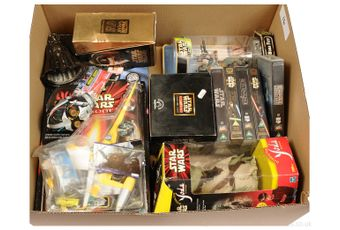 Quantity of modern Star Wars Collectables