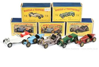 Matchbox Models of Yesteryear boxed group of model Cars to include