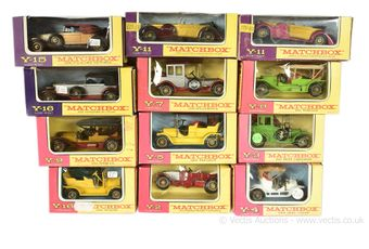 Matchbox Models of Yesteryear boxed group of late 1960's models