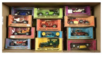 Matchbox Models of Yesteryear early 1970's group in woodgrain