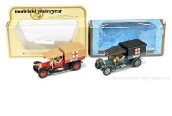 Matchbox Models of Yesteryear Y13 1918 Crossley RAF Tender pair