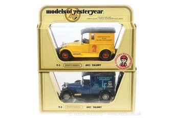 Matchbox Models of Yesteryear Code 2 issues Y5 1927 Talbot Vans