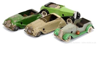 Triang Minic pair of pre and post-war Cars for restoration -