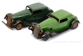 Triang Minic pair of post-war Vauxhall Cabriolet