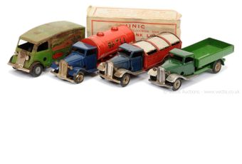 Triang Minic group of post-war Lorries