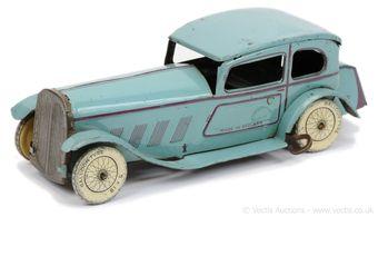 Wells (UK) XY1142 tinplate clockwork 2-door car