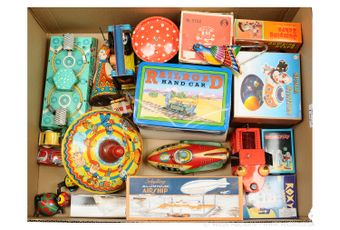 Schylling and other boxed and unboxed Space and Novelty Toys