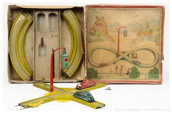 Gunthermann or similar German made tinplate clockwork Speedway