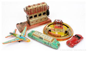 Schuco and other European Transport and other tinplate Toys -