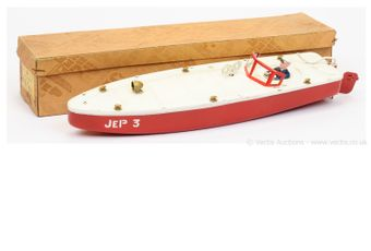 JEP (France) tinplate clockwork Speed Boat