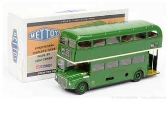 Mettoy tinplate clockwork Routemaster Bus