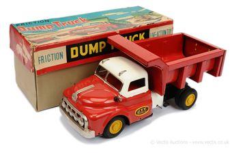 Yonezawa (Japan) 1954 GMC Bonneted Dumper Truck