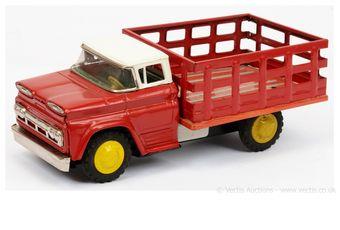 Yonezawa GMC Market Gardeners Truck - red