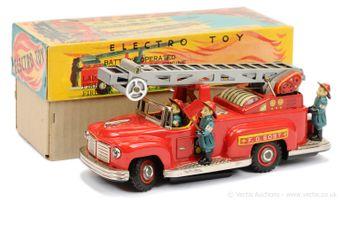 Nomura (TN Toys of Japan) 1950's tinplate Fire Engine