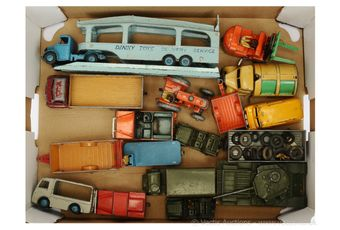 Dinky Toys a group of Commercial and Military vehicles circa