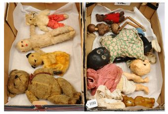 Collection of 1950's vintage Soft Toys, Dolls, Bears etc