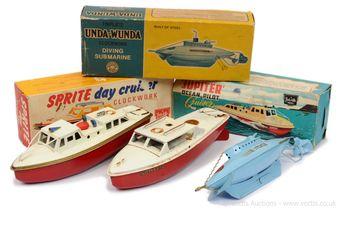 Sutcliffe Models Unda-Wunda tinplate clockwork Diving Submarine
