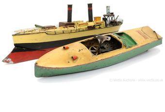 "Hornby pre-war Speedboat ""Curlew"" - light green hull"