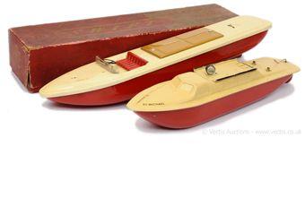 Harold Flory, a pair of aluminium model Boats (1)
