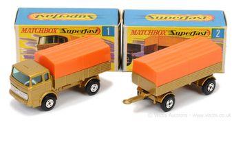 Matchbox Superfast 1a Mercedes LP Covered Truck