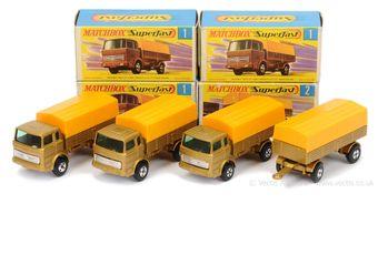 Matchbox Superfast 3 x 1a Mercedes LP Covered Truck