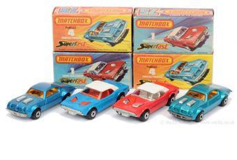 Matchbox Superfast 2 x 1c Dodge Challenger