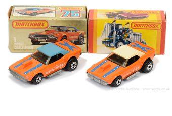 Matchbox Superfast 2 x 1d Dodge Challenger Revin' Rebel
