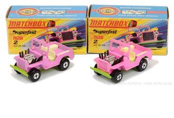 Matchbox Superfast 2 x 2b Jeep Hot Rod