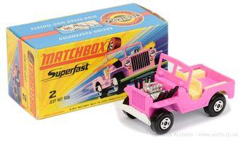 Matchbox Superfast 2b Jeep Hot Rod - pink body
