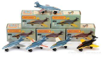 "Matchbox Superfast 5 x 2d S-2 Jet ""Blackburn Buccaneer"""